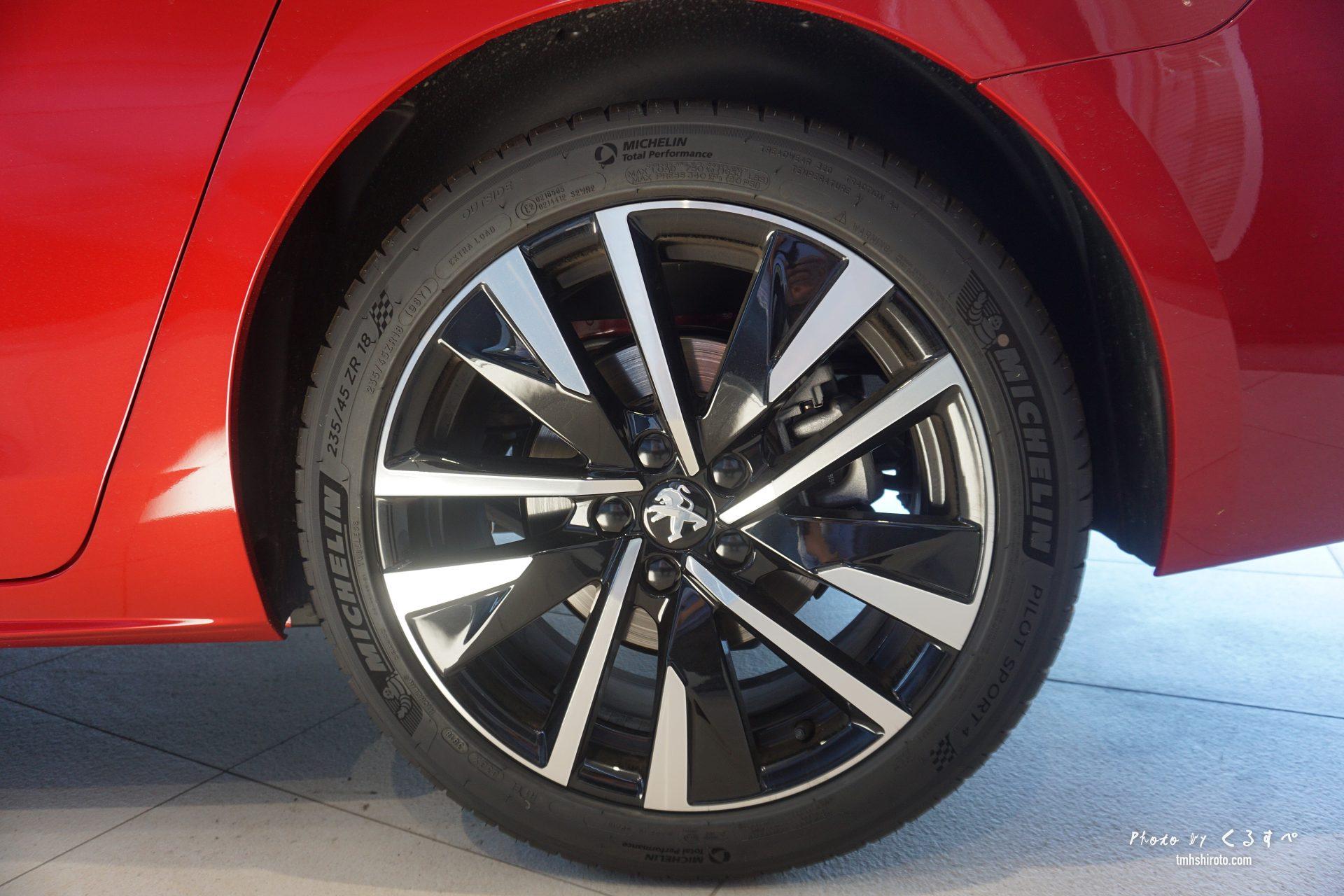 508 GTの18インチタイヤ&ホイール