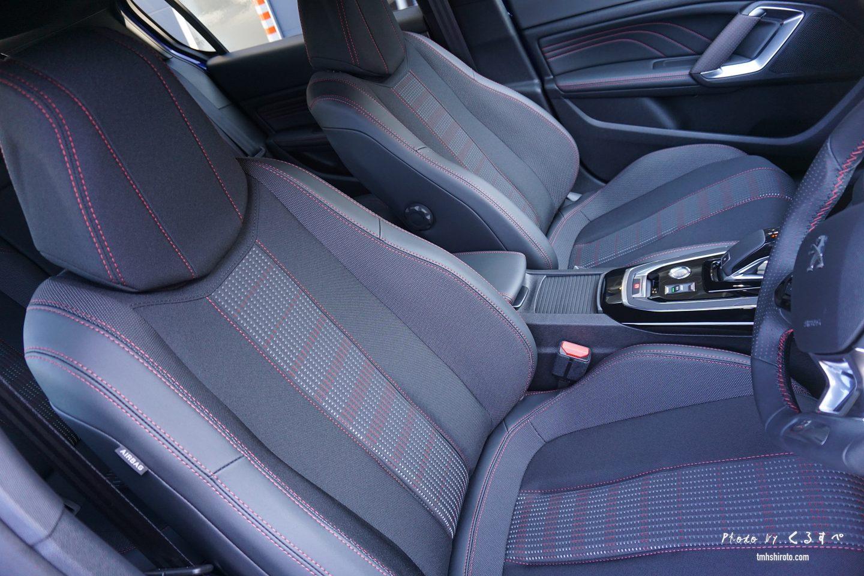 308 GT Lineのスポーツシート