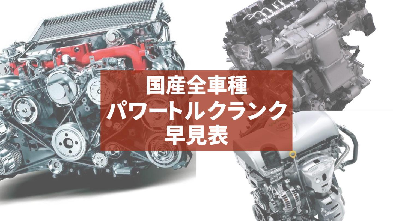国産全車種【パワー&トルク ランク早見表】 S〜Gで速さをランク付けします