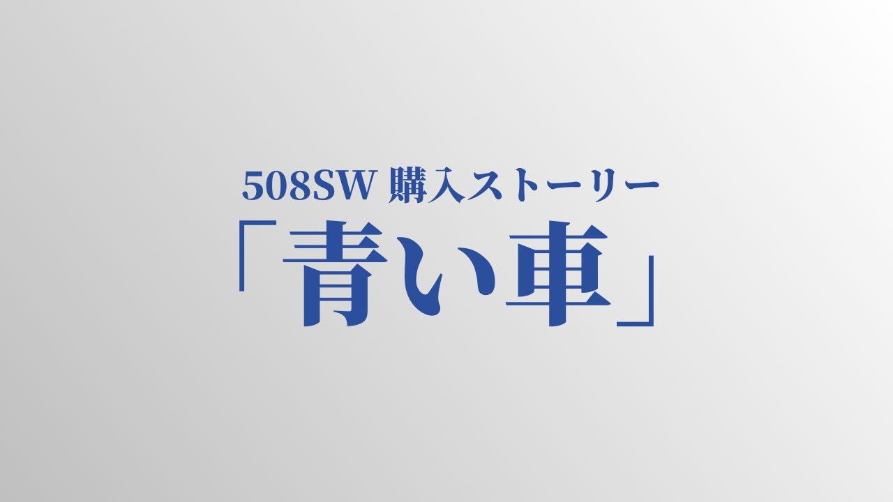 Peugeot 508SW 購入ストーリー「青い車」~小説仕立てで書いてみた~