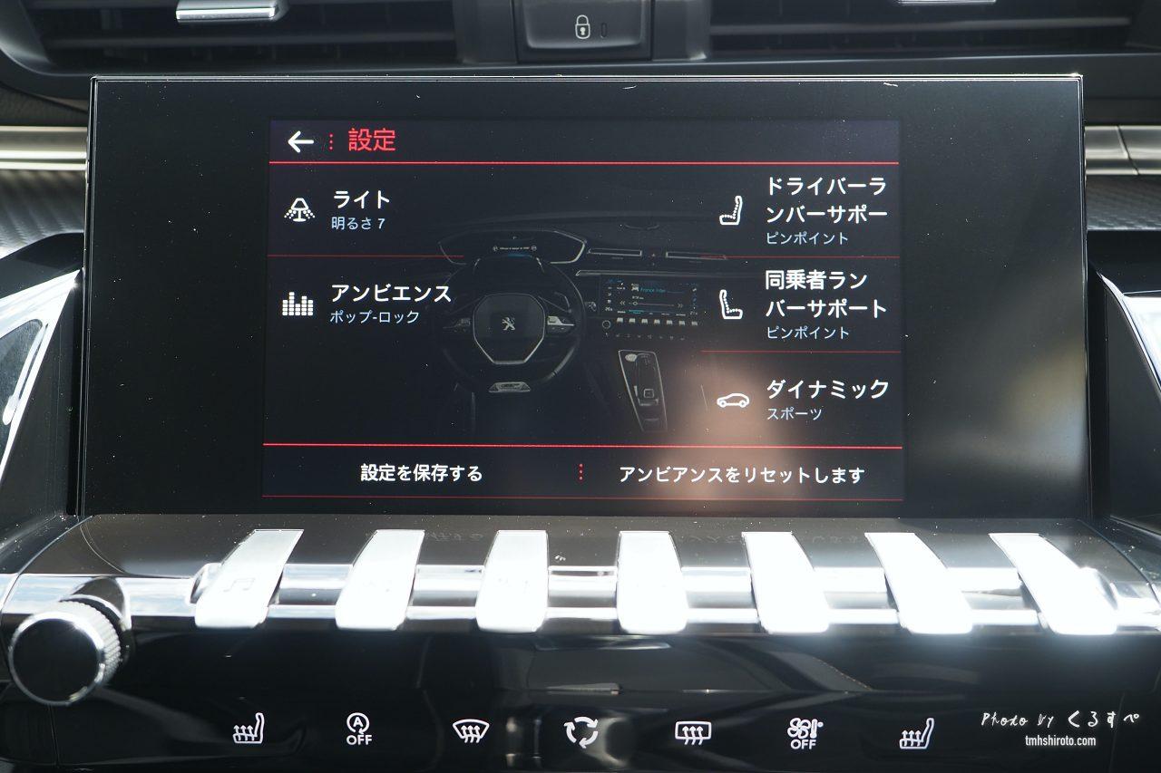 508SW GT Lineのアンプリファイカスタマイズ画面