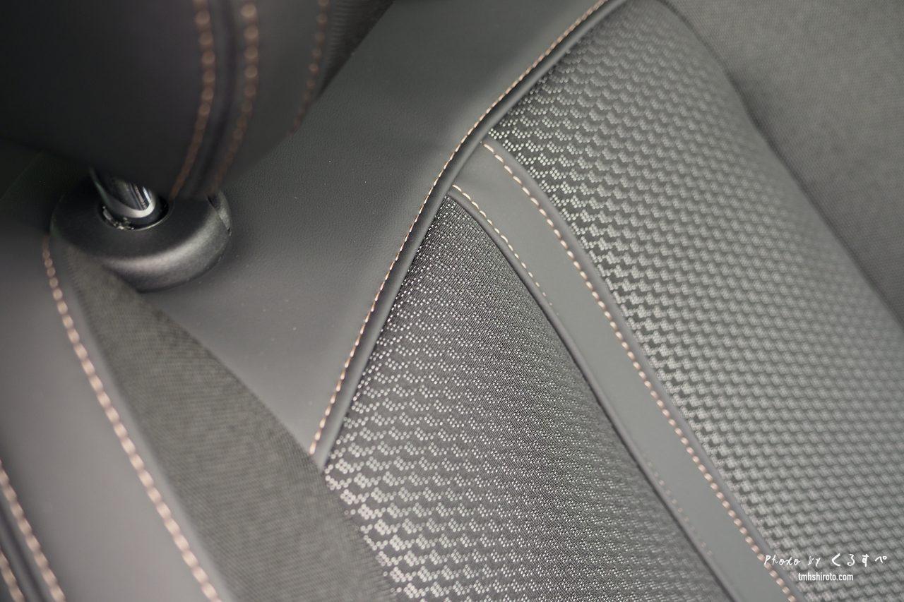 508SW GT Lineのファブリック・テップレザーシート(素材感)