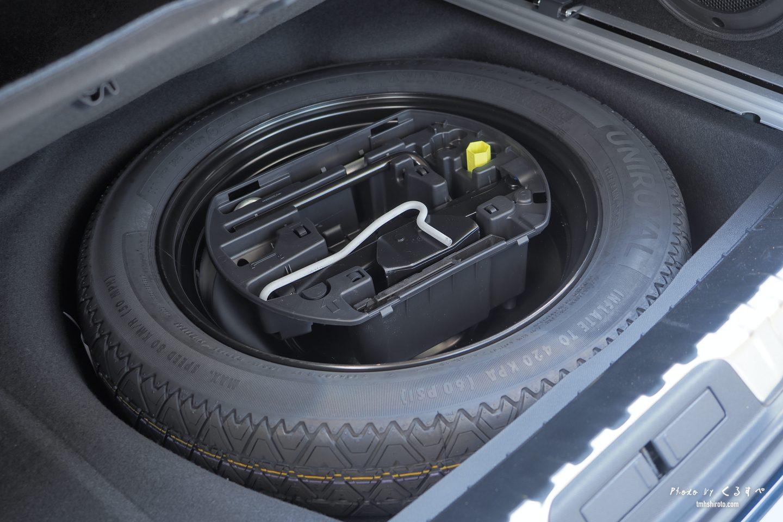 508SWのスペアタイヤ