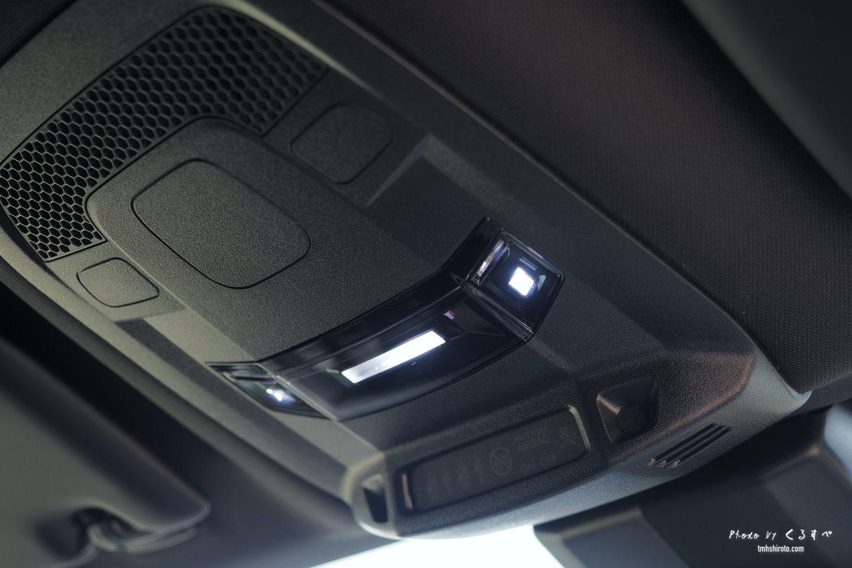 508SWの前席LEDルームランプ(タッチ式)