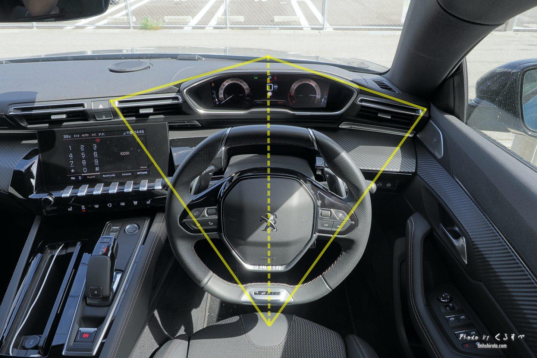 508SWの左右対称デザイン運転席