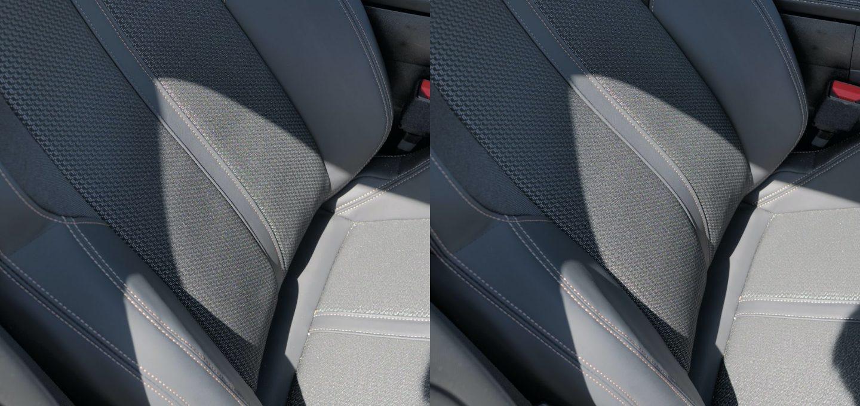 508SWの運転席シートマルチランバーサポート調整範囲