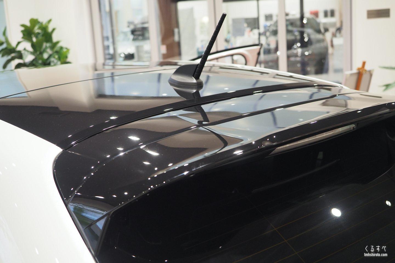 新型208 GT Lineのルーフアンテナ(ショート)
