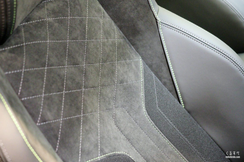 SUV 2008 GT Lineのアルカンタラシート(アップ)