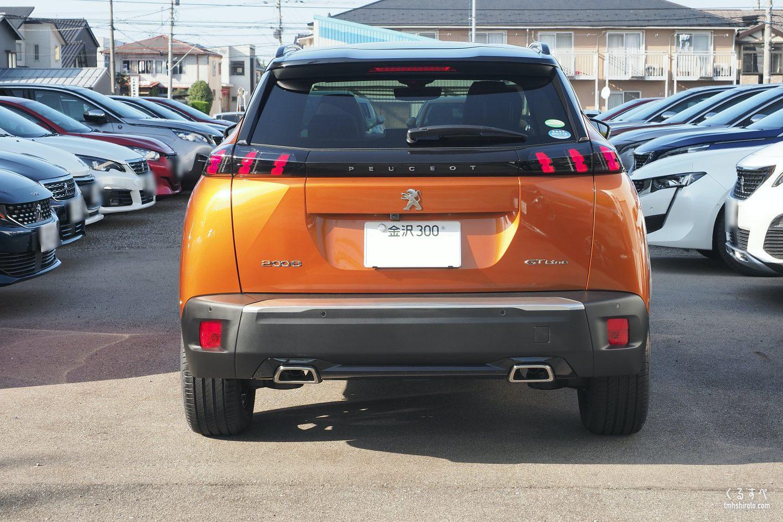 SUV 2008 GT Lineのリアビュー(フュージョン・オレンジ)