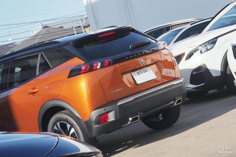 SUV 2008のバックランプとストップランプ点灯の様子