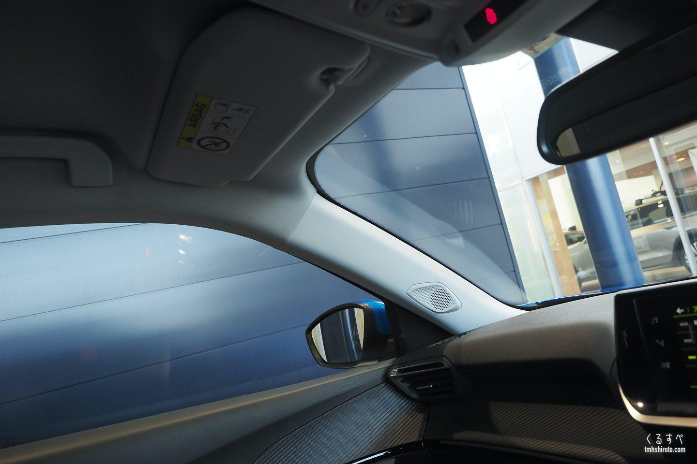 SUV 2008 GT Lineのルーフライニング(運転席周り)