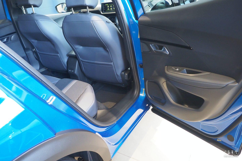 SUV 2008の後席開口部