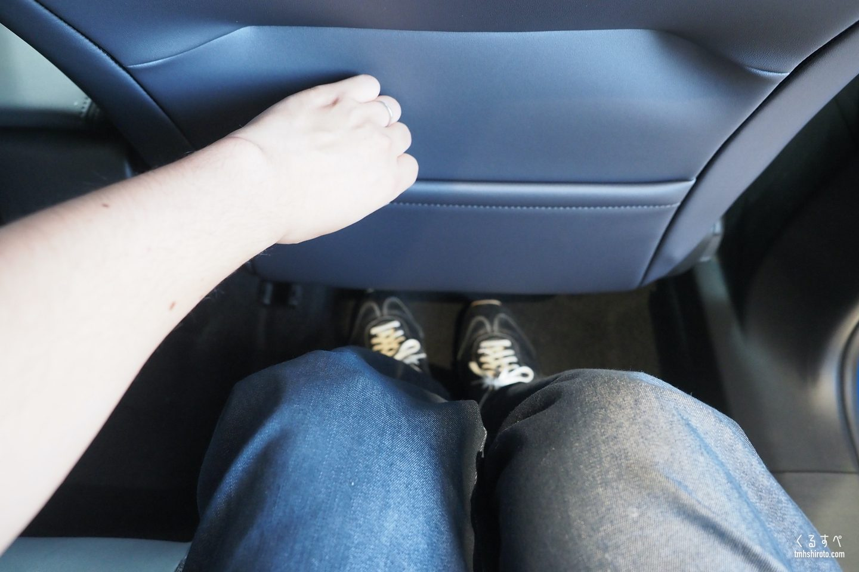 SUV 2008の後席膝前空間
