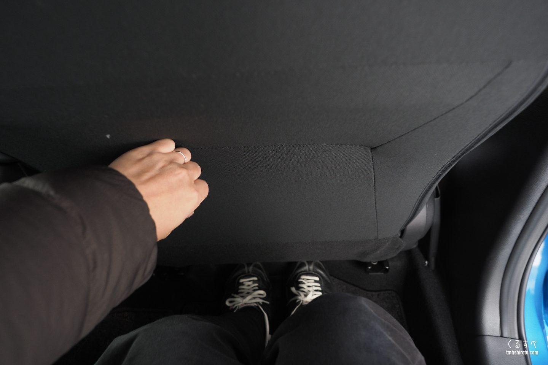 日産ノートe-POWER Xの後席膝前空間の広さ