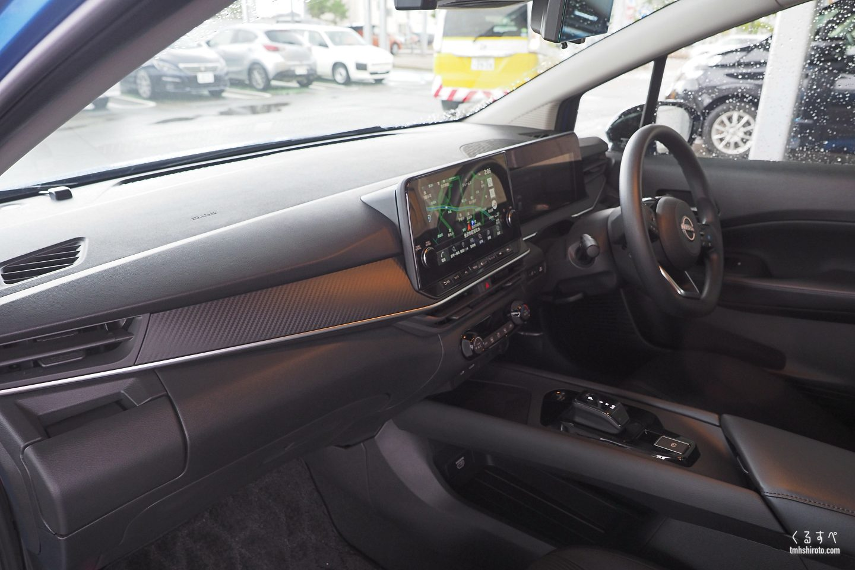 日産ノートe-POWER Xの運転席全貌(助手席側)