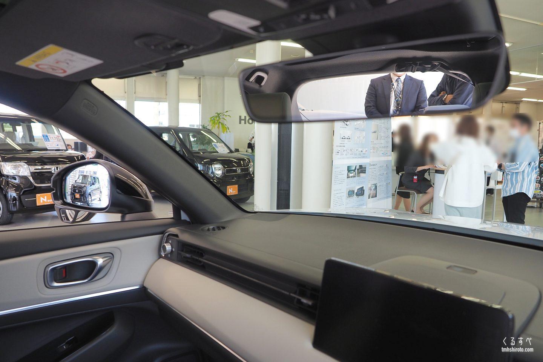 ホンダヴェゼルの運転席からの視界(斜め前方)