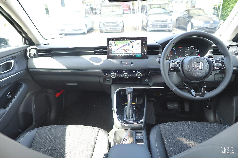 新型ヴェゼル e:HEV Zの内装運転席全貌