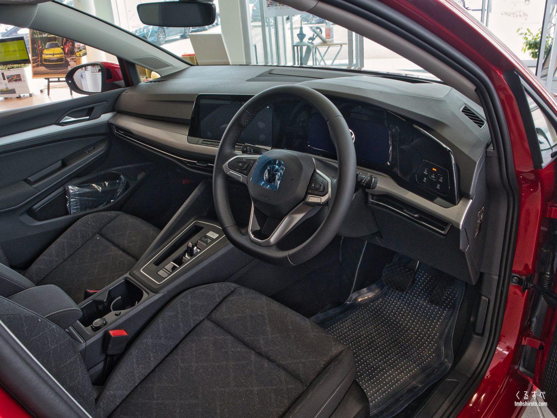 ゴルフ8 Activeの内装運転席全貌