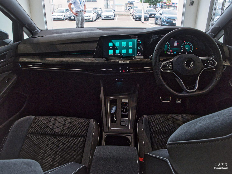 ゴルフ8 R-Lineの内装運転席全貌