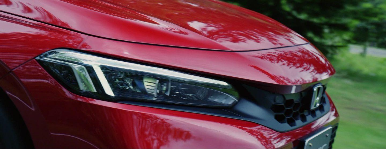 新型シビックハッチバックEXのヘッドライトデザイン
