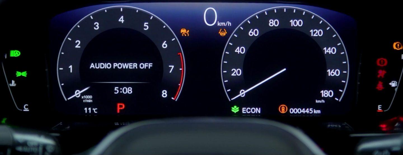 新型シビックハッチバックEXのフルデジタル液晶メーター(速度計表示)