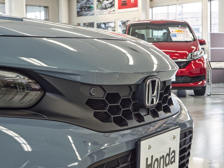 シビック(2021) LXグレード ソニックグレー・パールのハニカムグリル(無塗装樹脂)