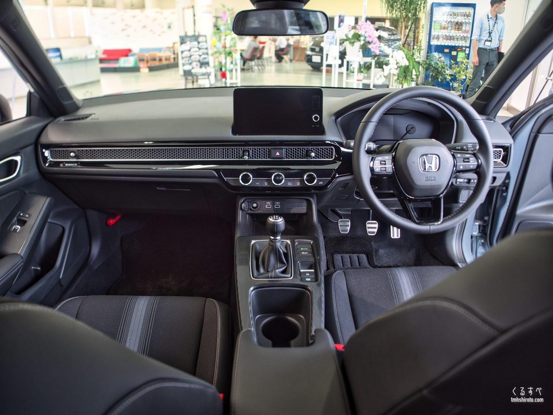 ホンダ シビック(FL1型) LXの内装(運転席助手席全貌)