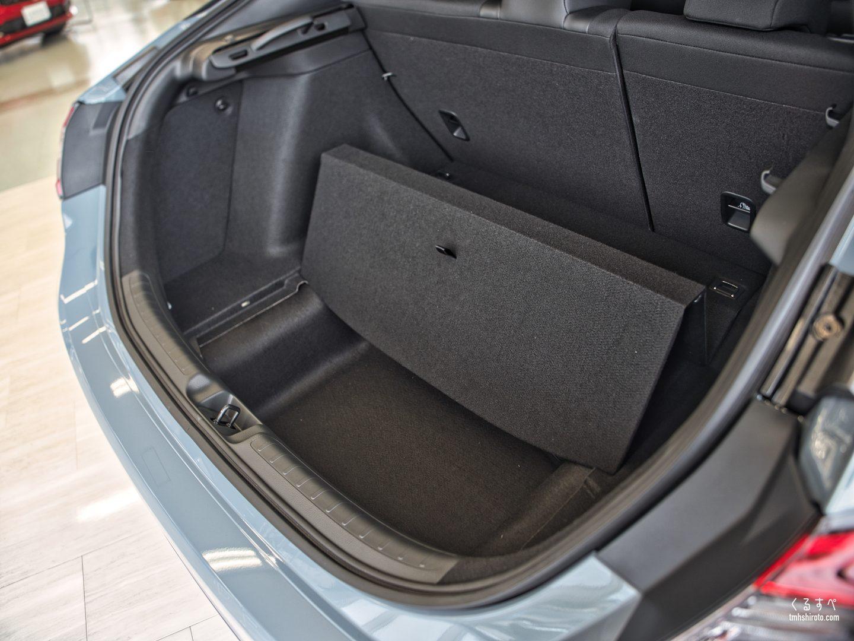 ホンダ シビック(FL1型) LXのラゲッジスペース(床下収納部分)