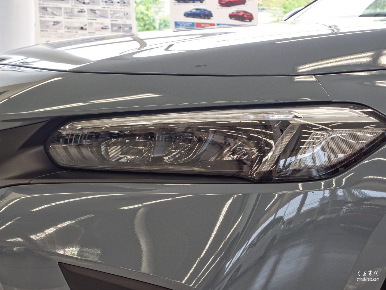 シビック(2021) LXグレードのLEDヘッドライト(オートハイビーム付き)