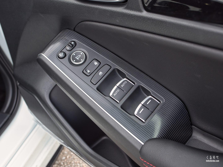 ホンダ シビック(FL1型) EXの運転席ドアトリム(ヘリンボーン柄パネルとプライススムースセンターパッド)