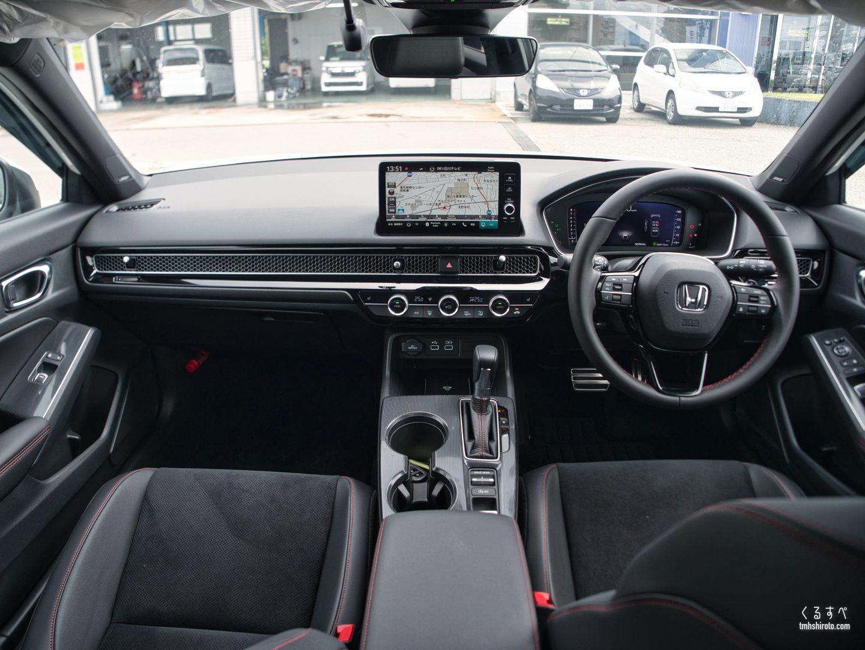 ホンダ シビック(FL1型) EXの内装(運転席助手席全貌)